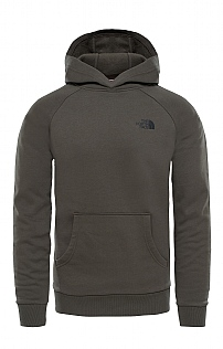North Face Raglan Red Box Hoodie