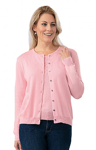 Ladies Pima Cotton Cardigan