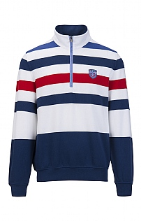 Claudio Campione Multi Stripe T-Zip Sweater