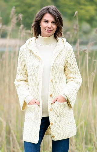 Merino Hooded Cardigan