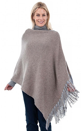 Merino and Cashmere Reversible Poncho