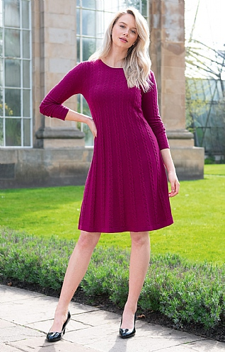 Silk & Cashmere Cable Dress