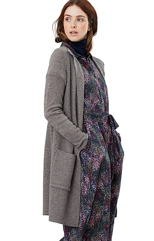 Joules Camilla Long Ribbed Cardigan