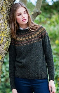 Ladies Fairisle Crew Neck