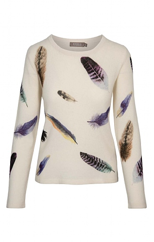 Brodie Cashmere Birds of a Feather Sweater