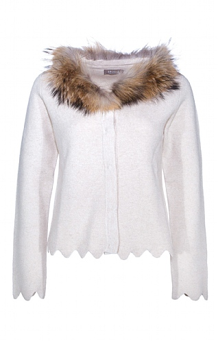 Cashmere Charlotte Jacket with Fur Trim