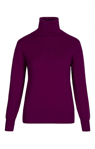 Ladies 2 Ply Cashmere Roll Neck