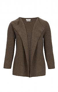 Ladies Ribbed Cashmere Waterfall Cardigan
