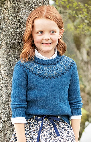 Child's Fairisle Shetland Crew Neck