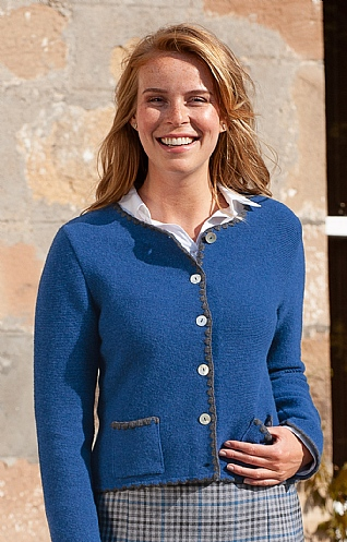 Ladies Blanket Stitch Cardigan