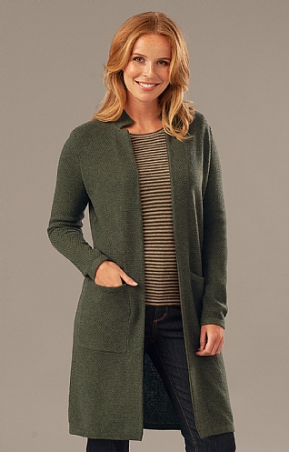 Ladies Birdseye Boyfriend Cardigan