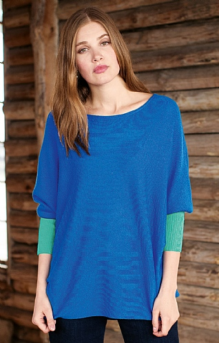 Silk & Cashmere Contrast Relaxed Tunic