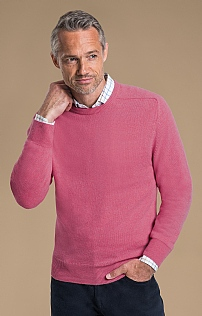 Mens 2ply Lambswool Crew Neck