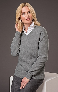 Ladies 2ply Lambswool V Neck