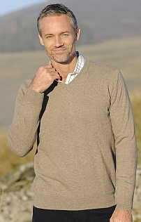 Mens Cashmere V Neck
