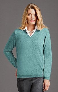 Ladies Cashmere V Neck