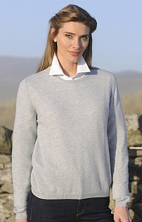 Ladies Cashmere Crew Neck
