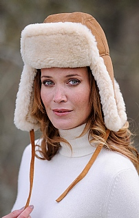 Sheepskin Flying Hat