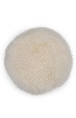 Round Sheepskin Cushion