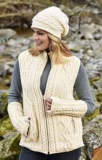 Ladies Aran Wristwarmers