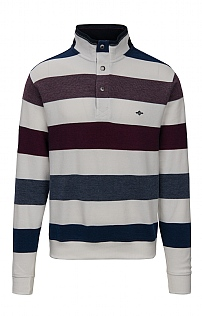 Baileys Cotton Stripe Stud T-Zip