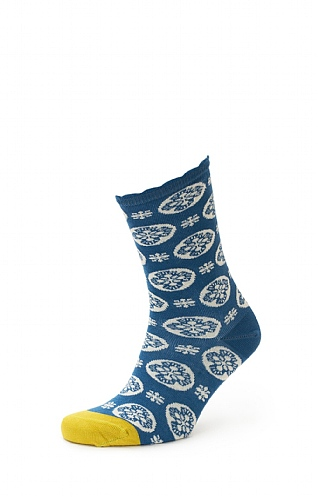 Ladies Seasalt Floral Feet Socks