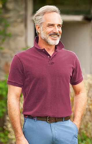 Men's Sulphur Washed Polo Shirt
