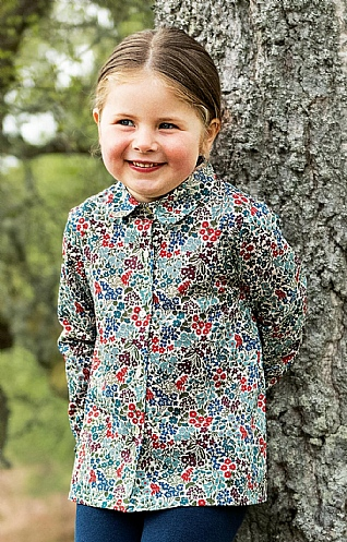 Girl's Liberty Print Collar Blouse