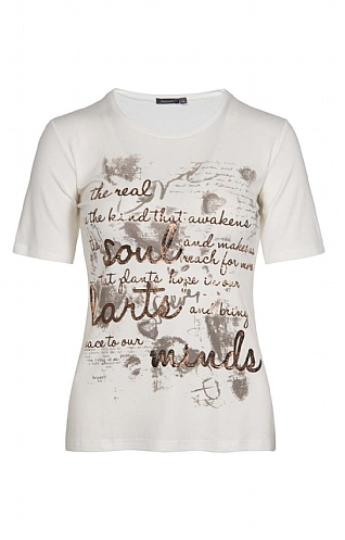House Of Bruar Ladies Graphic Text T-Shirt