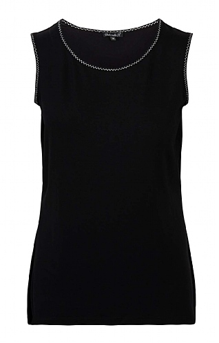 House Of Bruar Ladies Basic Sleeveless T-Shirt - Black
