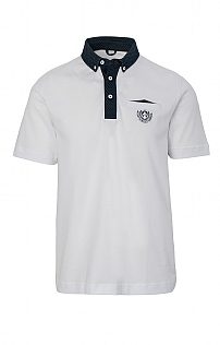Claudio Campione Plain Contrast Button Polo