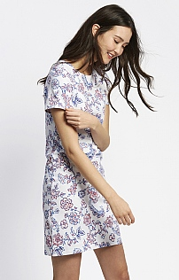 Joules Border Printed Jersey Dress