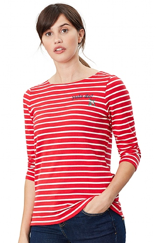 Joules Harbour Embroidered Long Sleeve Top