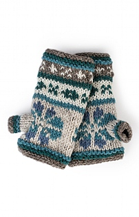 Ladies Fairisle Wristwarmers