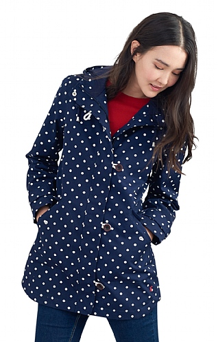 Joules Coast Printed Mid Waterproof Jacket