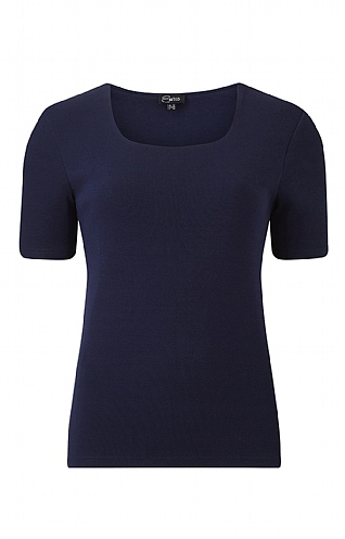 Emreco Square Neck Short Sleeve Top