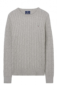 Gant Stretch Cotton Cable Crew