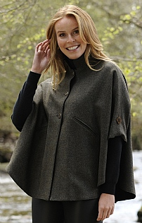 Reversible Tweed Cape