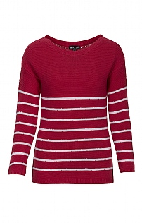 Marble Button Back Stripe Jumper