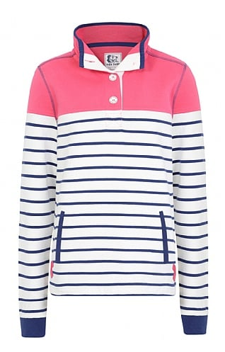 Lazy Jacks Slim Fit Striped Button Neck Sweatshirt